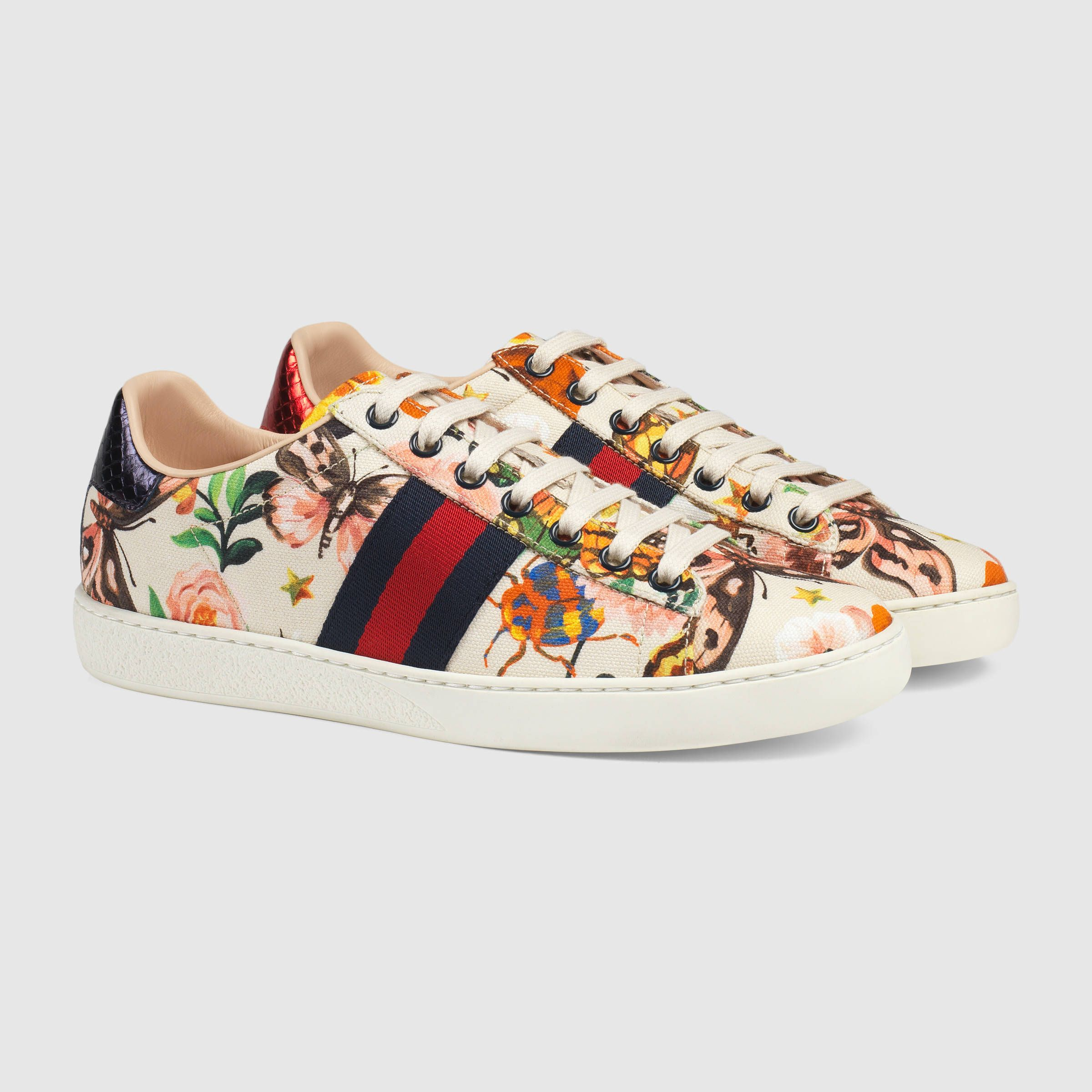womens Skateboarding Shoes Canvas Tropical Gardern Patterns Sport Sneaker