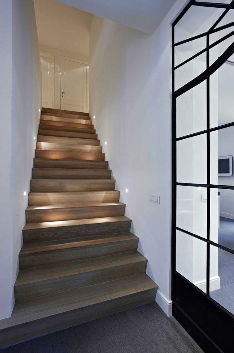 Escalier intérieur quelques idées déclairage moderne