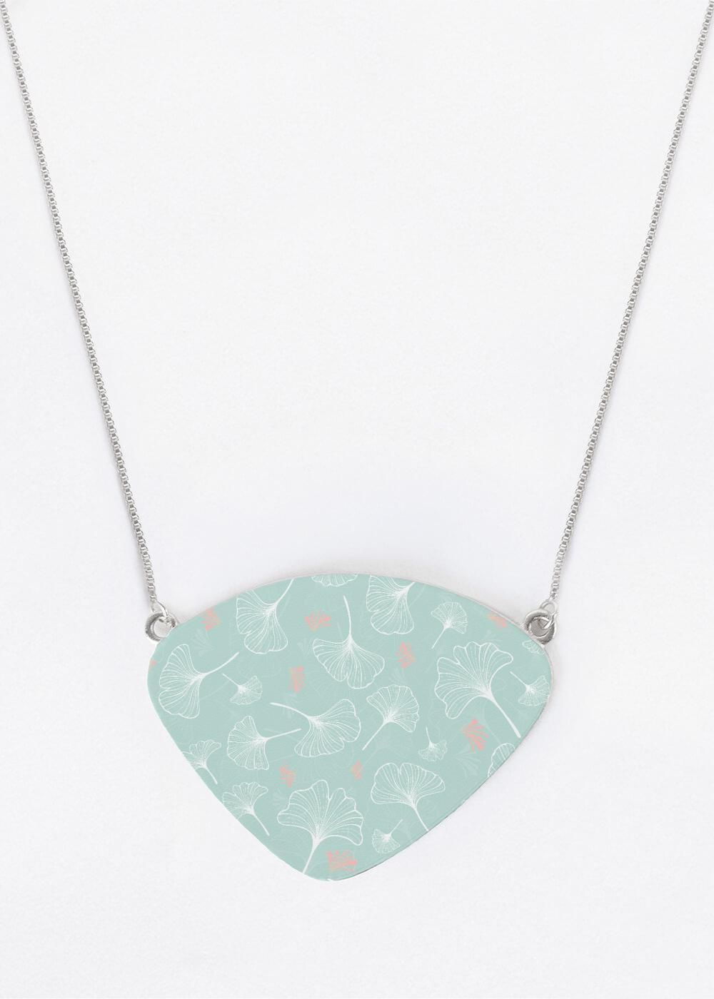Ginkgo turquoise – Oversized Statement Pendant by antares.je…