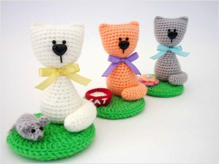 Souvenir cat amigurumi pattern free | Animales-amigurumis ...