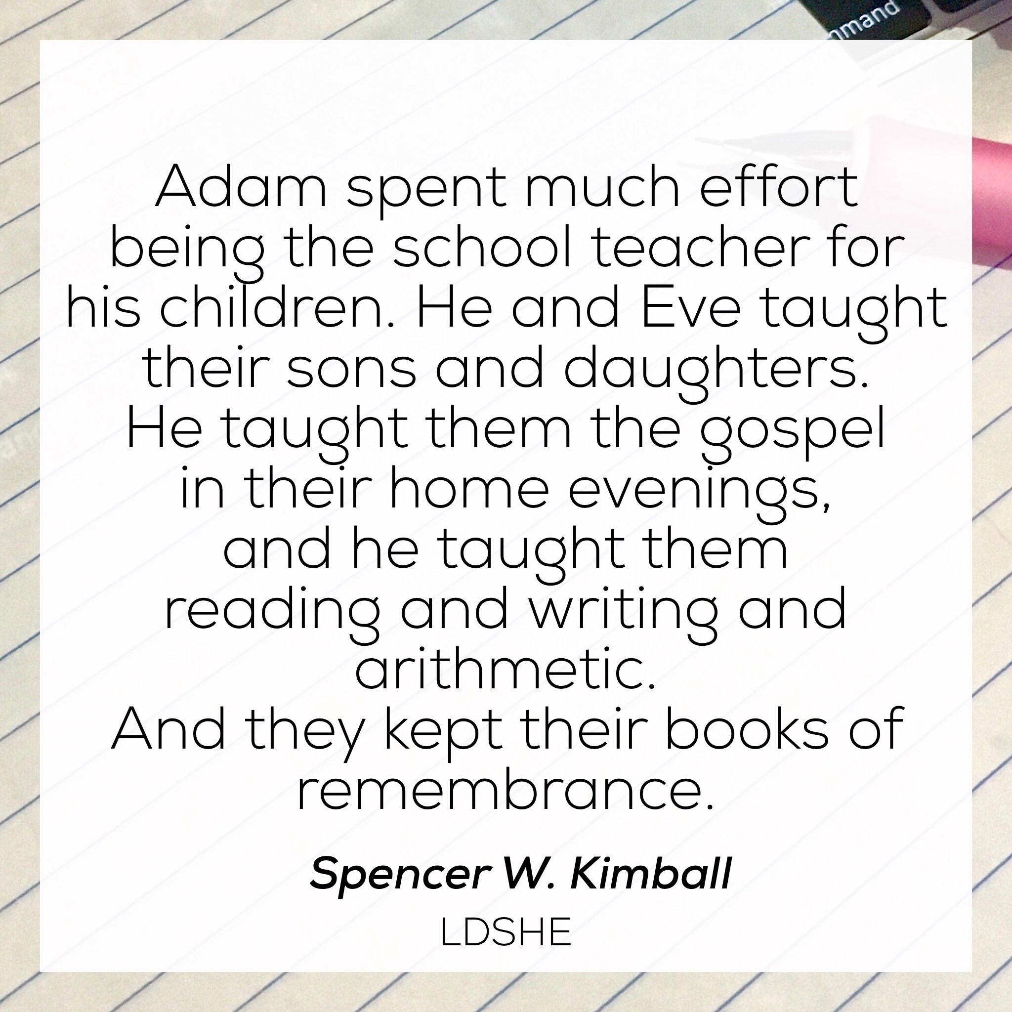 Quotes About Teaching Children Spencer Wkimball Teaching Children Quote  Education Quotes
