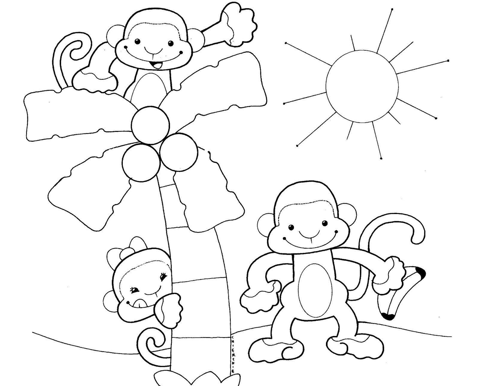 Animales de la selva caricatura para colorear - Imagui | Monkey ...
