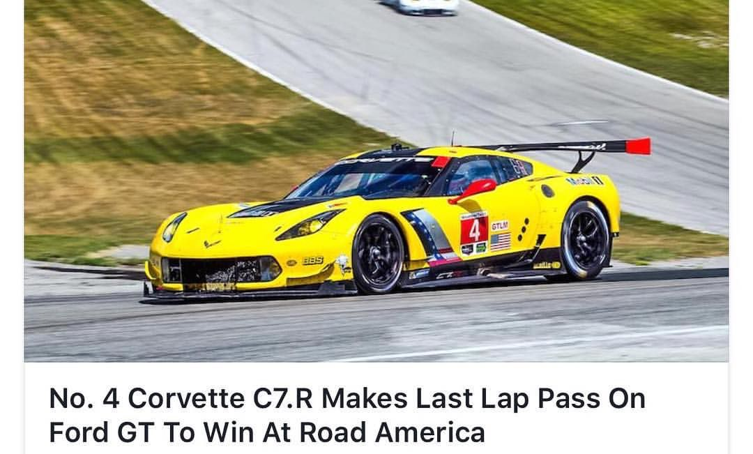 No 4 Corvette C7 R Makes Last Lap Pass In Ford Gt To Win At Road