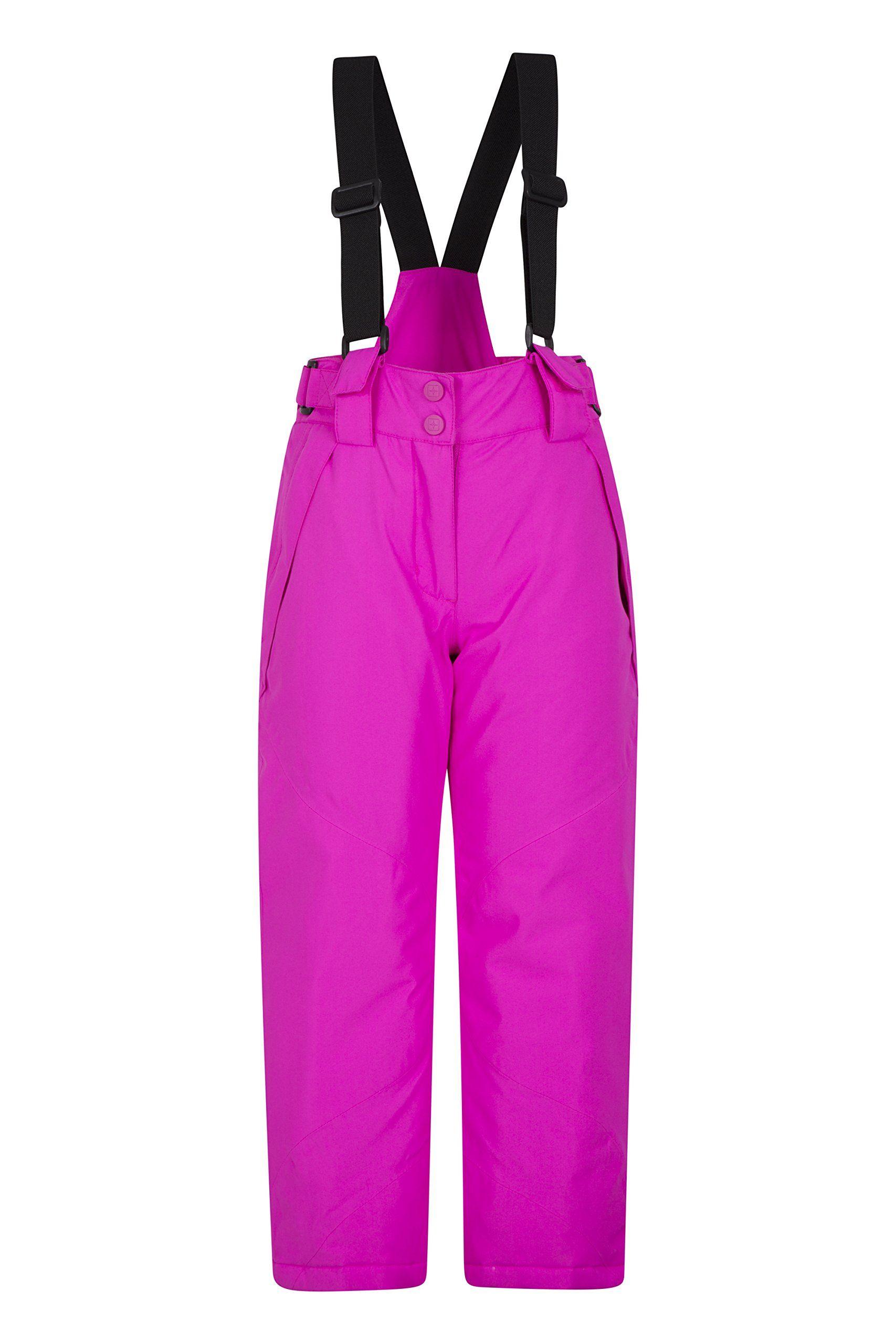 84d00c995b04 Mountain Warehouse Falcon Extreme Kids Ski Pants Bright Pink 11-12 ...