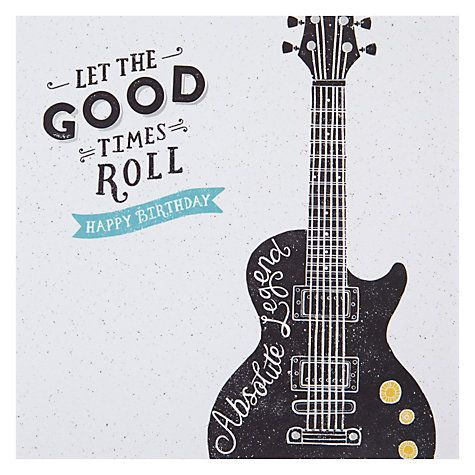 Buy hotchpotch guitar birthday card online at johnlewis buy hotchpotch guitar birthday card online at johnlewis bookmarktalkfo Choice Image