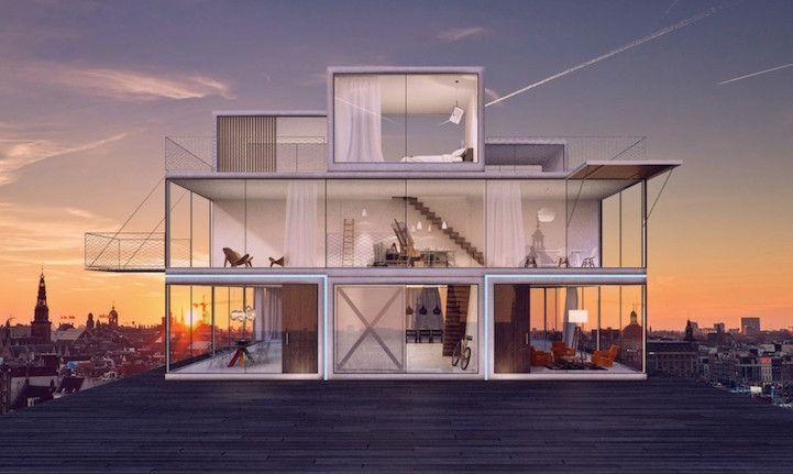 Tetris House by Universe Architecture Ideas for the House