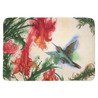 Hummingbird Bath Rug With Memory Foam