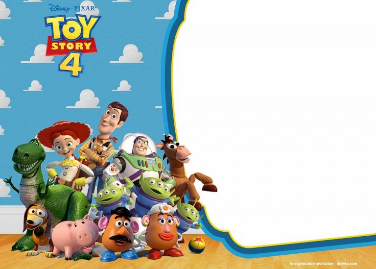 A Blessed Existence Free Toy Story Party Invite Template Toy Story Birthday Party Toy Story Invitations Birthday Toys