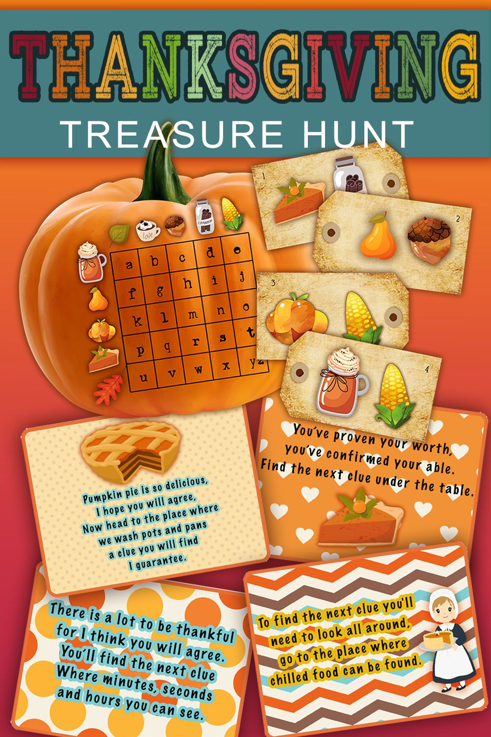 Thanksgiving Scavenger Hunt Treasure Hunt Clues Fun Themed Etsy In 2020 Thanksgiving Activities For Kids Thanksgiving Scavenger Hunt Treasure Hunt For Kids