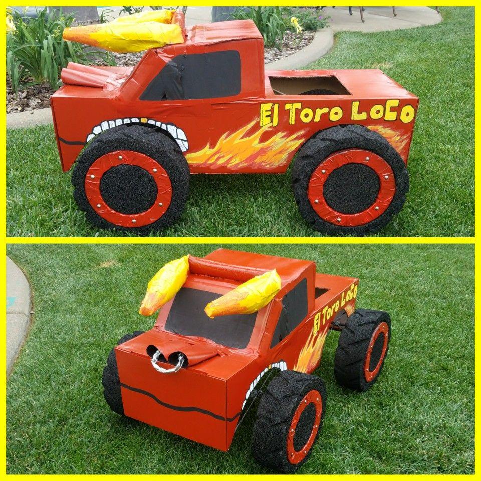 Monster Truck Cardboard Box Cl Project Vehicle Car Transportation Parade Diy Costume Original El Toro Loco