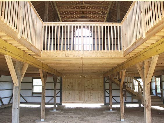 Inside pole barn floor plans home custom barns custom for Pole barn interior ideas