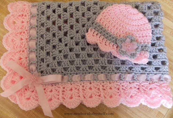 Crochet Baby Hats Hand-crochet granny square crochet baby blanket ...
