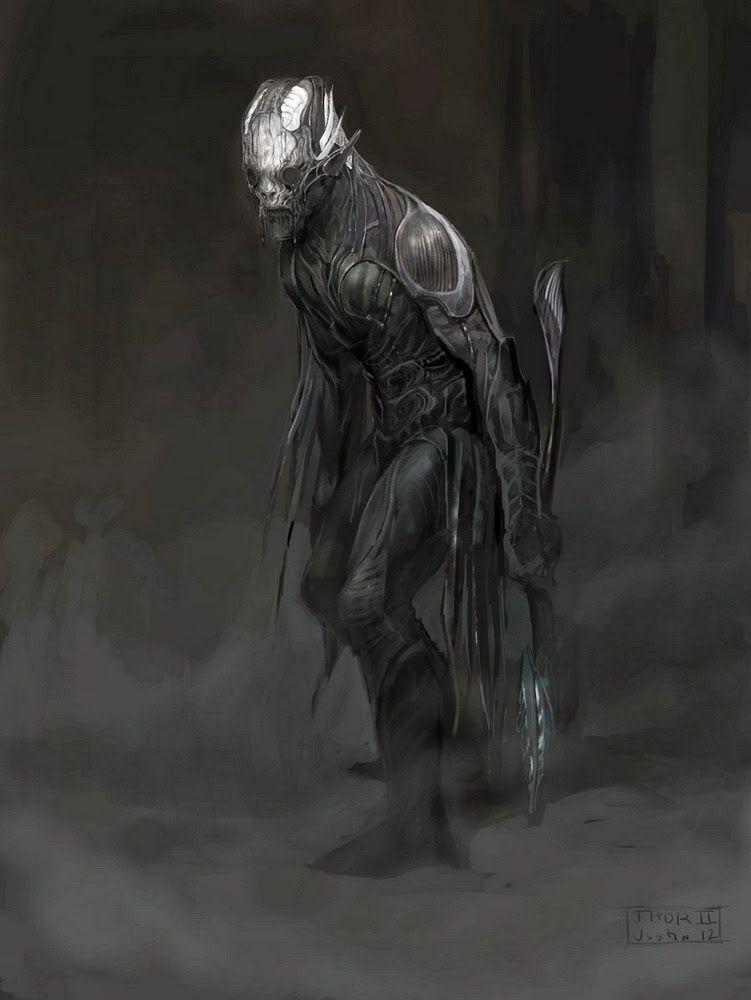 Concept art de Thor: El Mundo Oscuro (2013), Elfo Oscuro por Justin Sweet