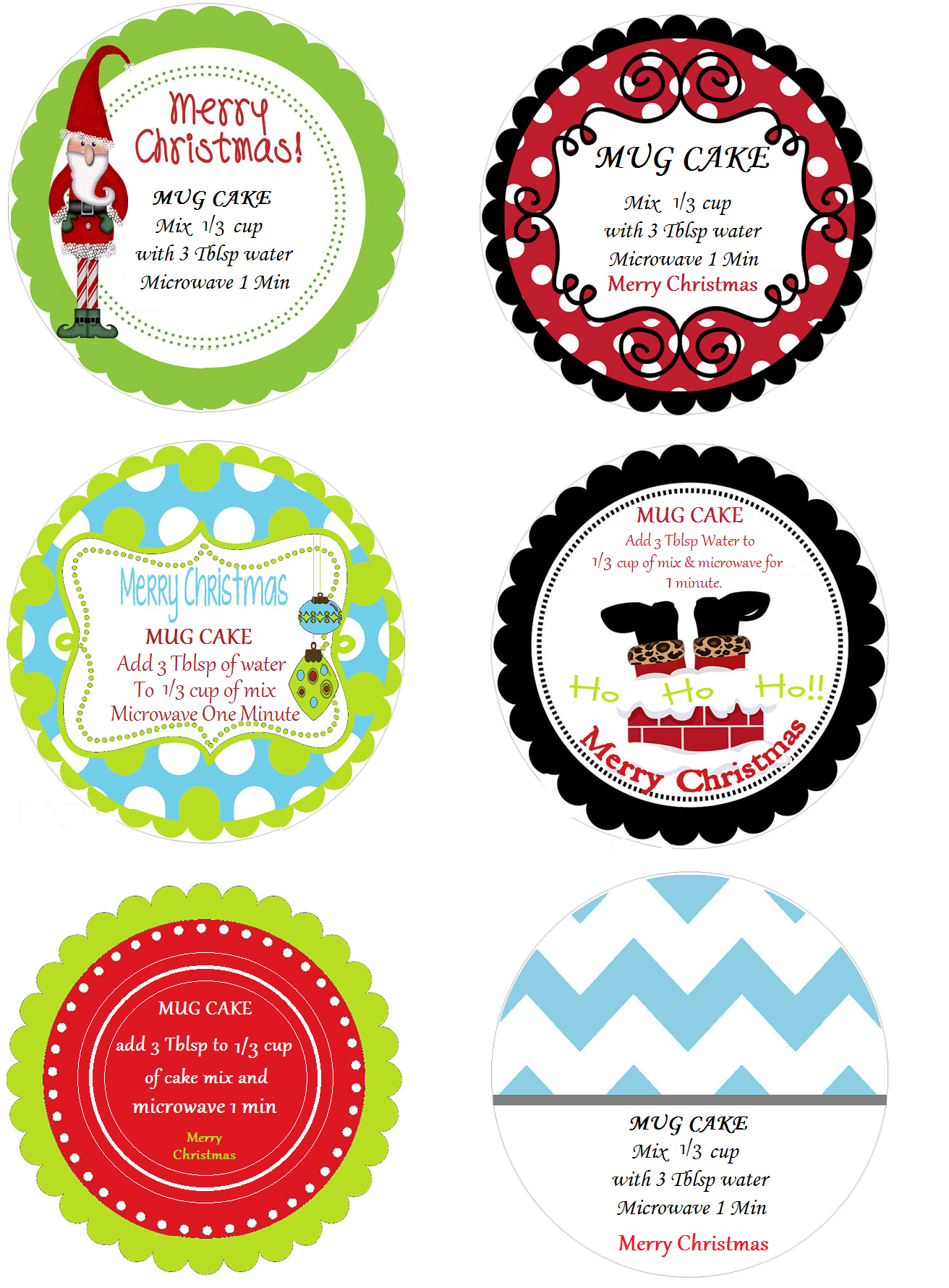 Canning Jar Labels Designed For Mug Cakes Christmas Themed Using Mspaint You Can Print As Portrait 100 Fit On Canning Jar Labels Christmas Mugs Mug Cake
