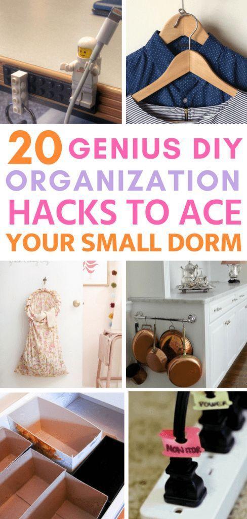 20 Genius Dorm Room DIY Organization Hacks to Ace Your ...