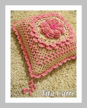 Almofada Flor Da India Em Crochet Almofadas De Croche Capas De