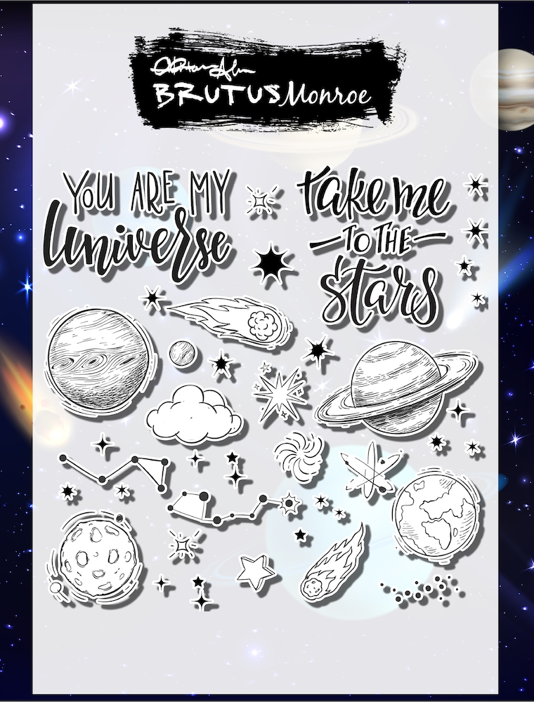 Brutus Monroe OUT OF THIS WORLD Clear Stamps bru4747 at Simon Says STAMP!