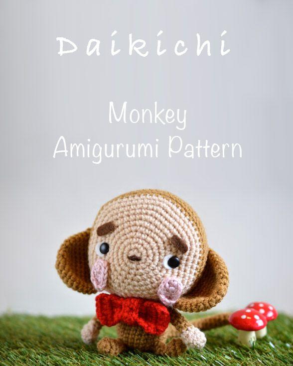Free Monkey Amigurumi Crochet Patterns   Mono, Patrones amigurumi y ...