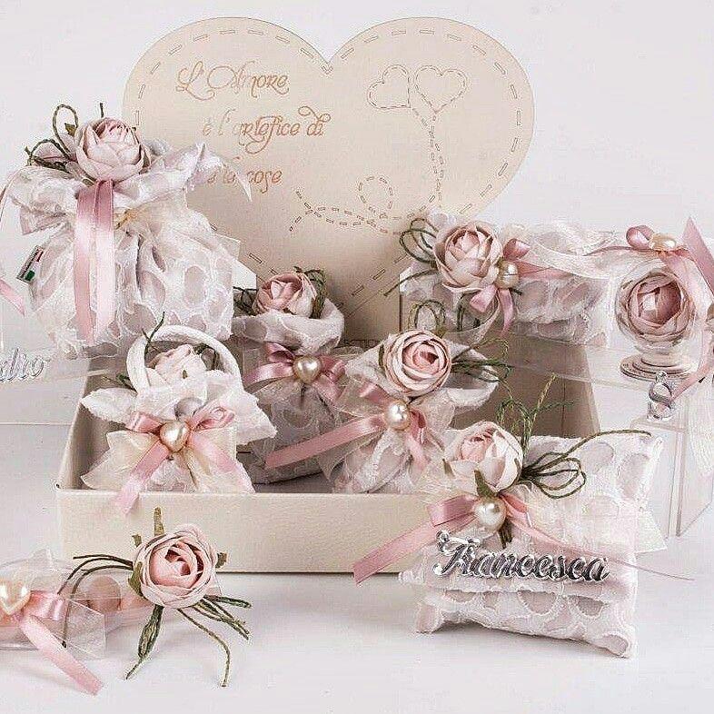 Segnaposto Matrimonio Rosa Cipria.Matrimonio Rosa Antico Elegante Con Doppia Stoffa E Bocciolo In