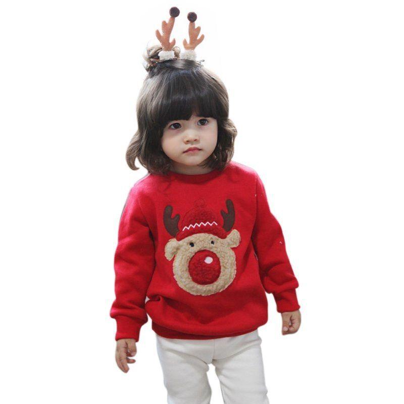6d848283a9ca Christmas Gift Children Kids Autumn Winter Baby Boys Girls Long ...