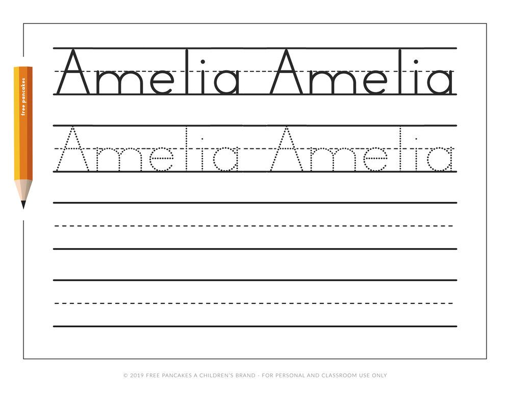 Personalized Name Tracing Worksheets Name tracing