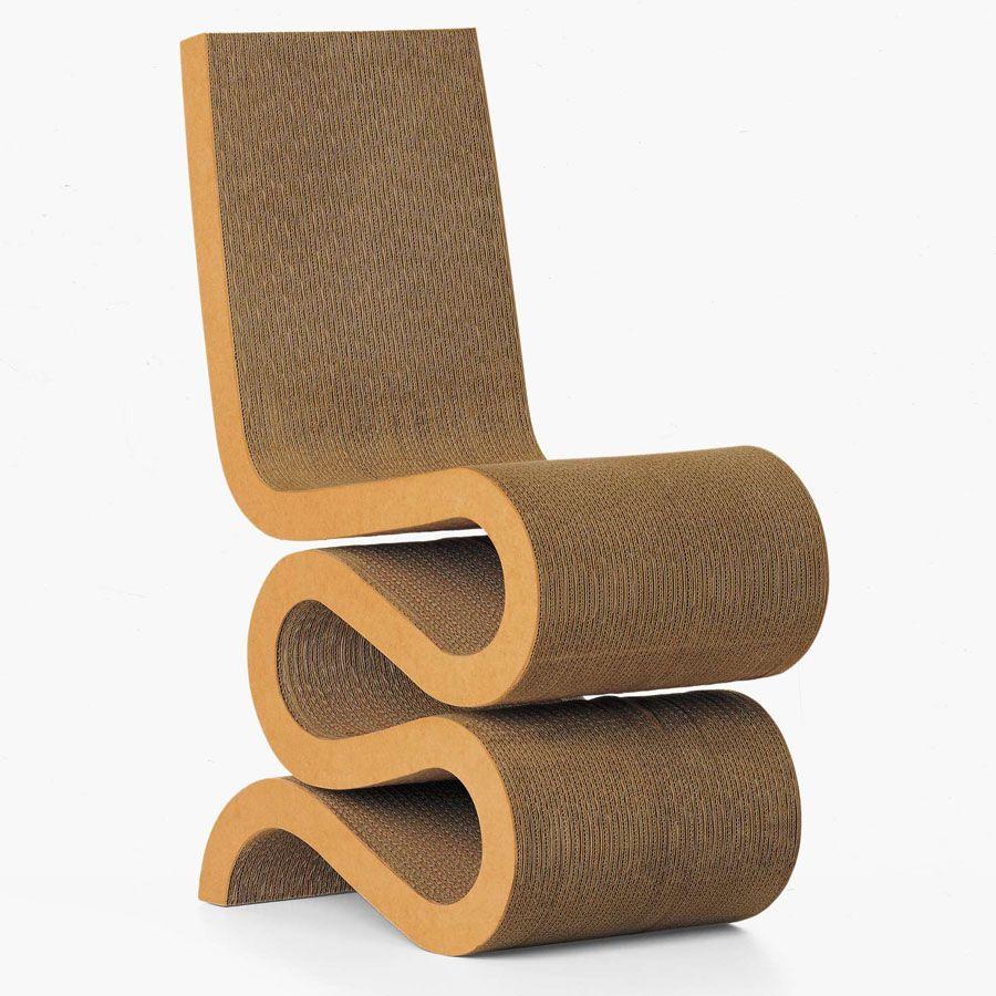Vitra Frank Gehry Wiggle Side Chair Modern Cardboard 3jpg 900900