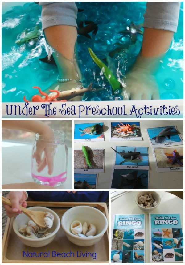 Montessori Inspired Themed Preschool Activities Under The Sea