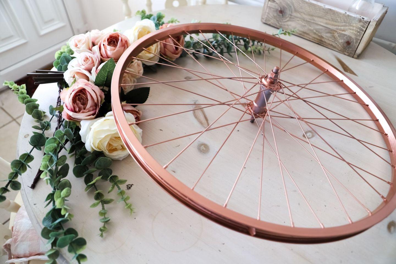 Repurpose And Recycle An Old Bike Wheel Bike Wheel Copper Spray