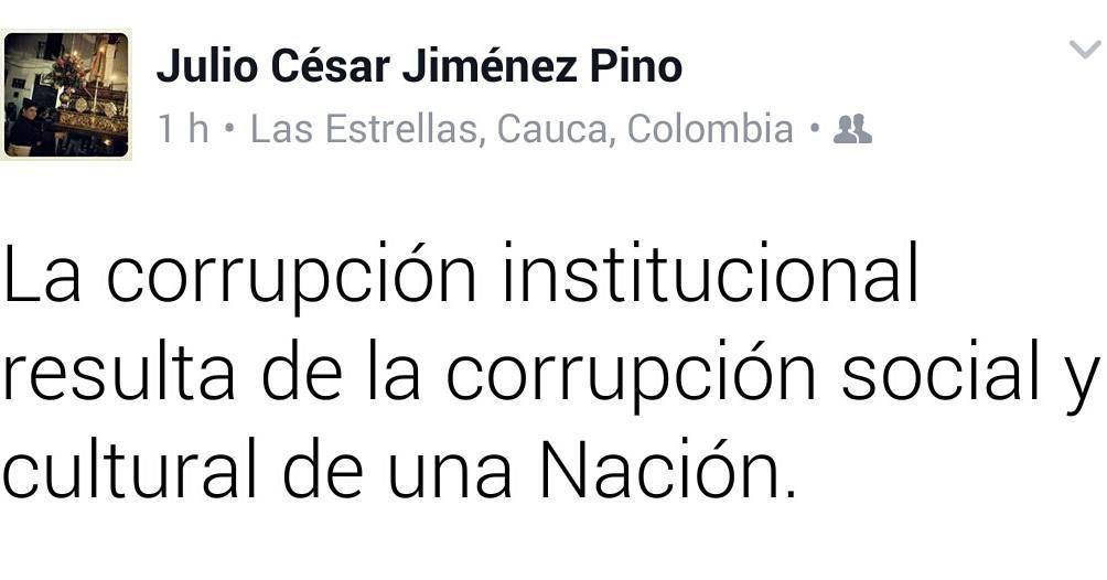 Sobre la corrupción.
