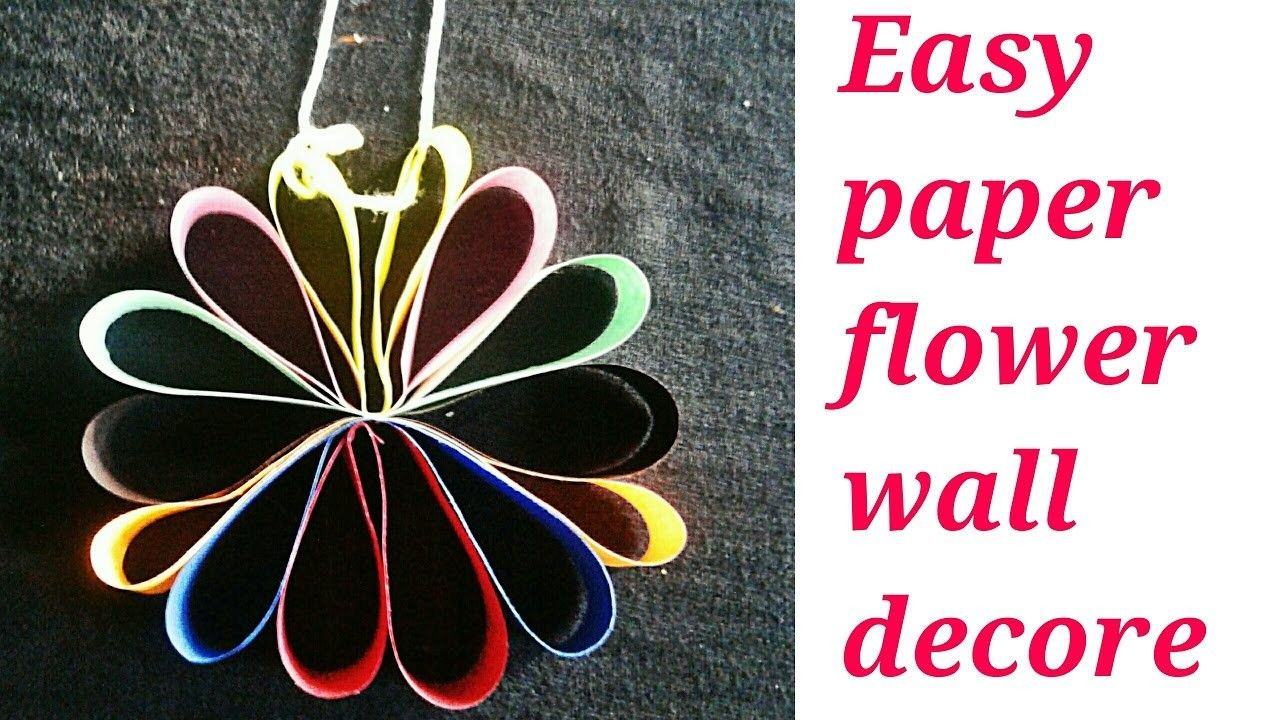 Easy Paper Flower Wall Decor Flower Wall Decor Simple Diy And