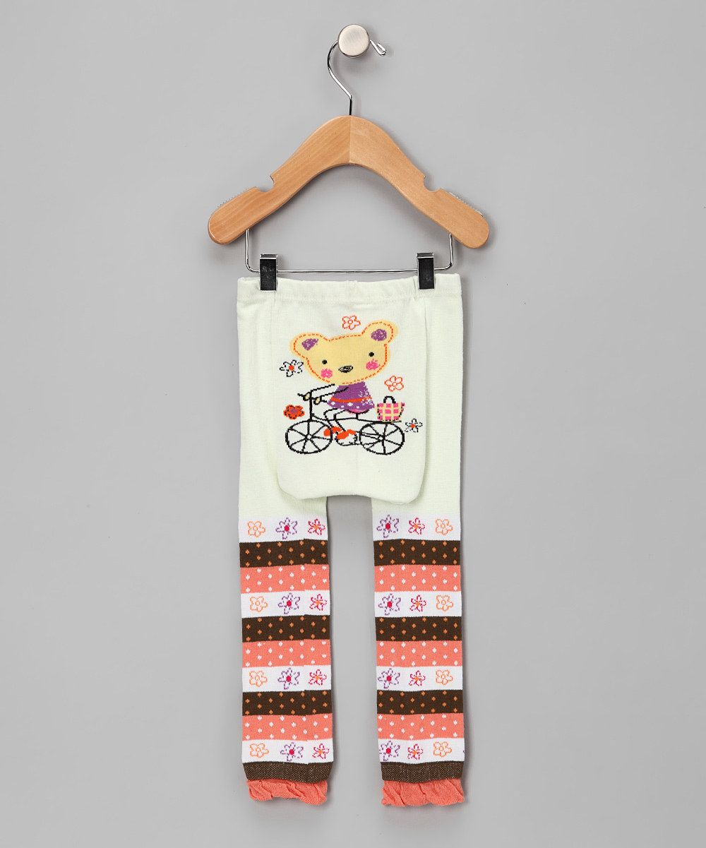 This Tan & Pink Biking Kitty Pants by Legwarmers Warehouse is perfect! #zulilyfinds $9.99