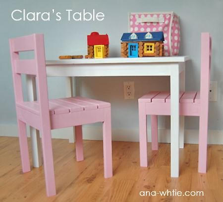 Clara Table Kids Table Chairs Diy Furniture Plans