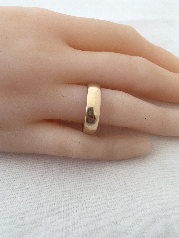 Unisex 14k Gold Wedding Band Ring Hallmark Symbol 47 Grams Men Or