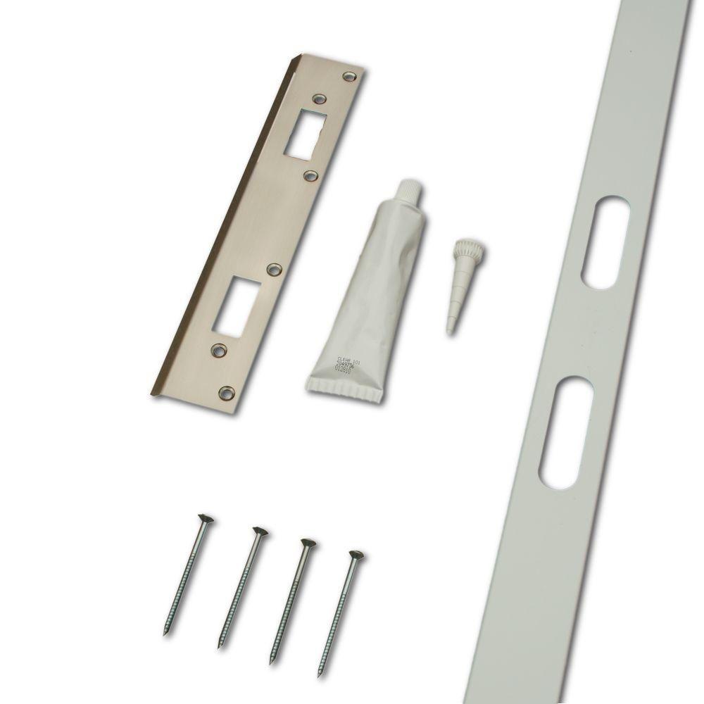 home security door and frame reinforcement kit metallics - Door Frame Home Depot