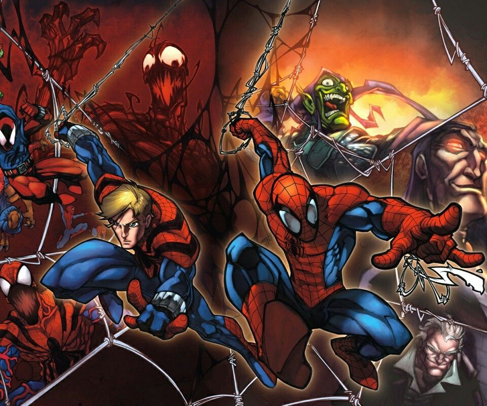 Spiderman his clone ben reilly as spiderman and scarlet - Spider carnage ben reilly ...