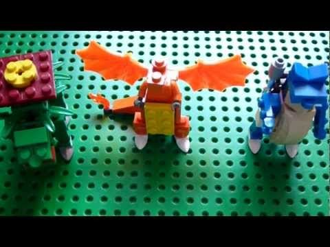 Lego Pokemon Instructions Part 1 Venusaur Charizard And