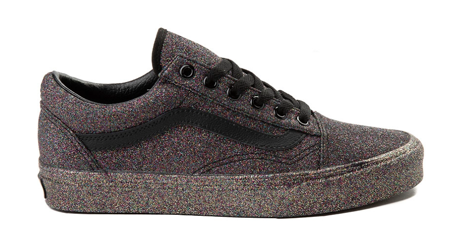 6b48bb5d7dec Vans Women Rainbow Glitter Old Skool Sneakers