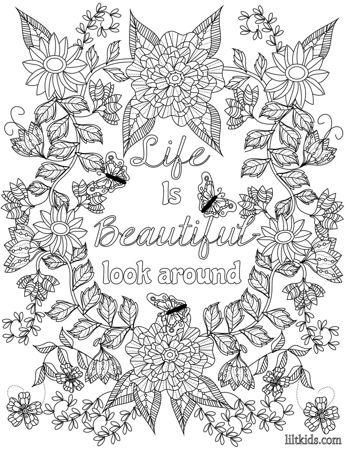 Coloring Inspirational Quotes The Uplifting By LiltColoringBooks