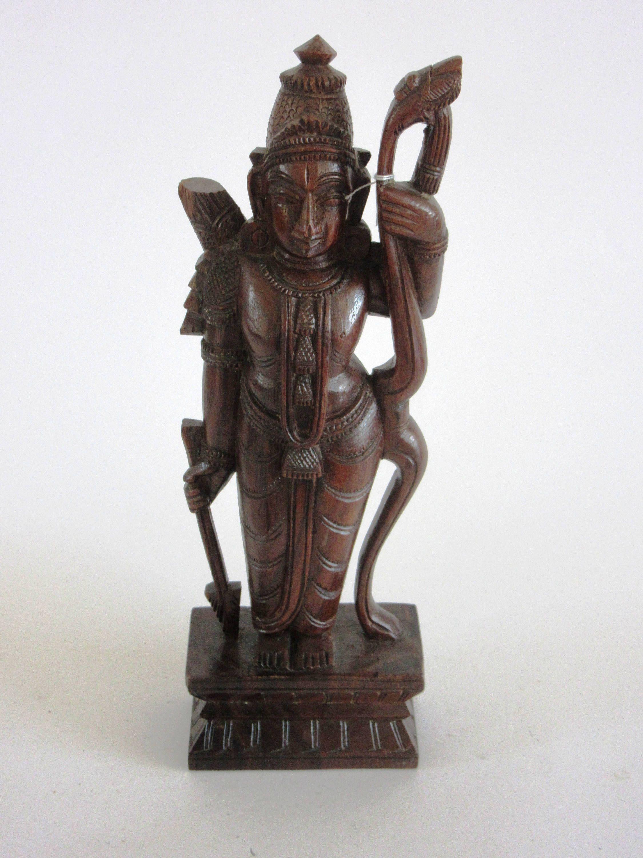 Hand carved asian goddess