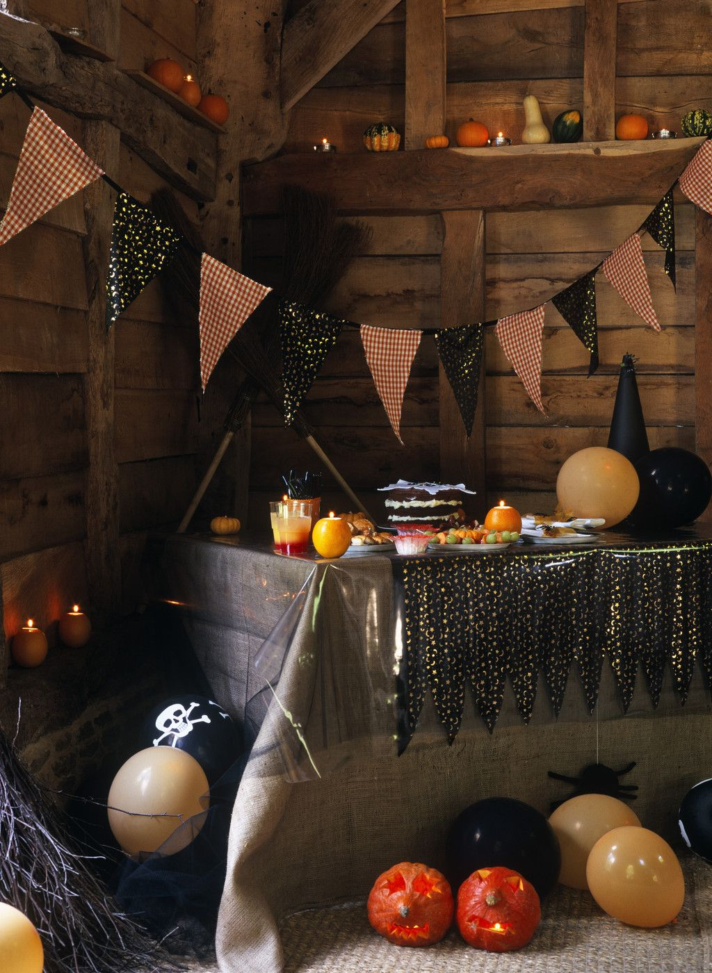 rustic halloween decor - Rustic Halloween Decorations