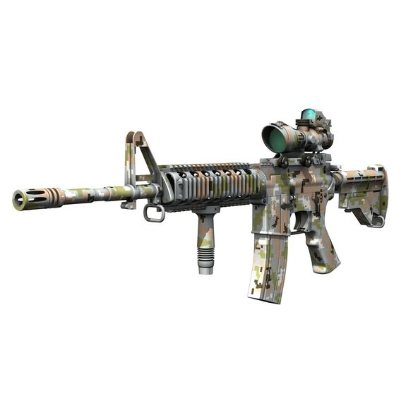 Colt M4 A1, Acog, Foregrip, Had A Different Paint Scheme