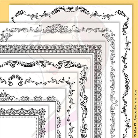 Page Border Certificate Frames Vintage Borders great as Award ...