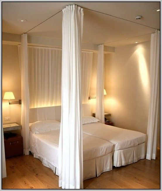 How To Hang Curtains From Ceiling As Room Divider