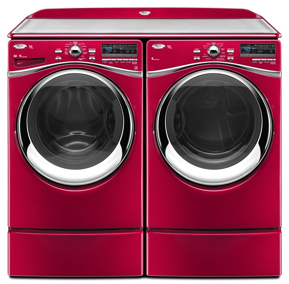 Work surface for washer and dryer - Maytag Washer And Dryer With Pedestals And Work Surface