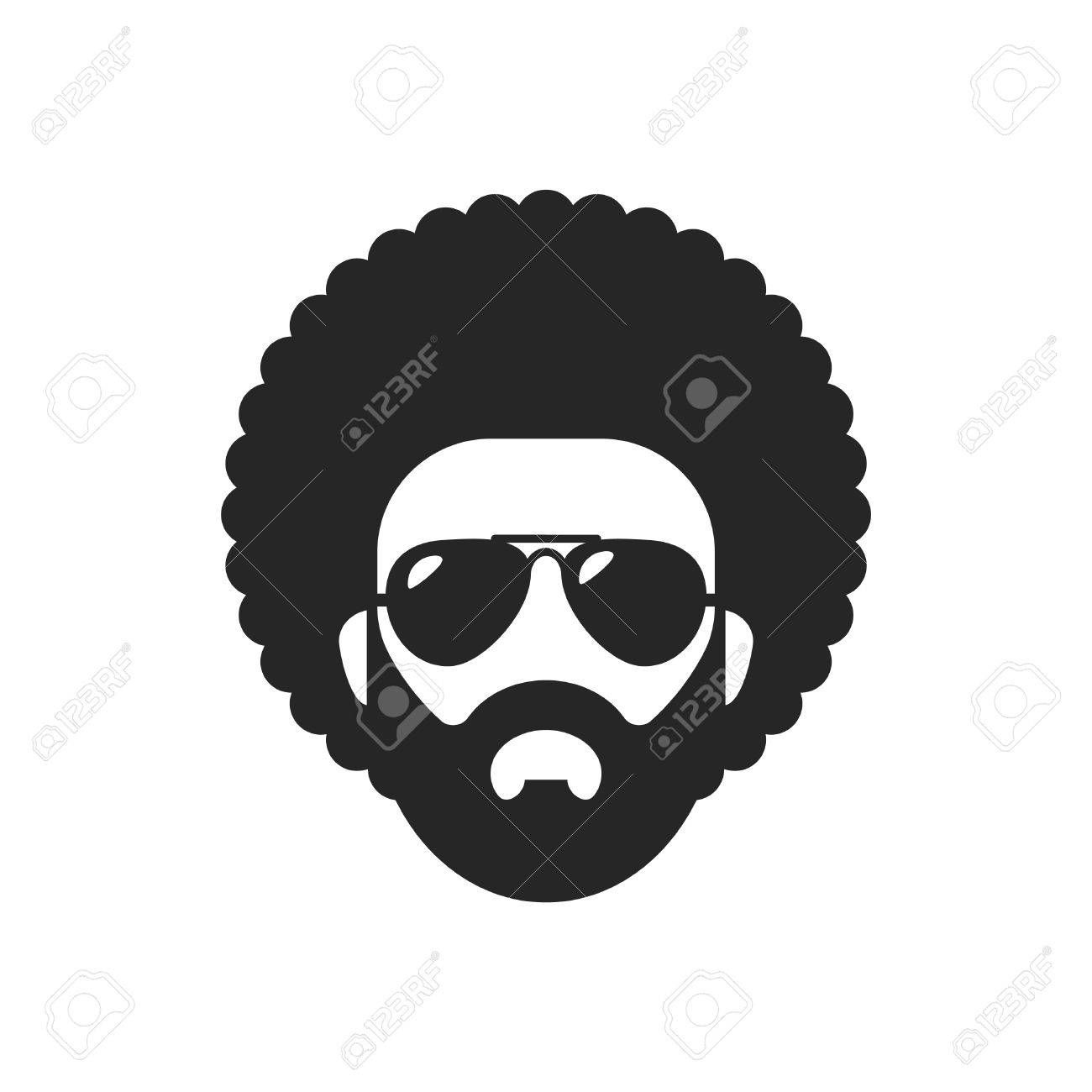 Cool african man. Afro haircut. ,
