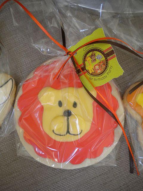safari birthday cookies favor