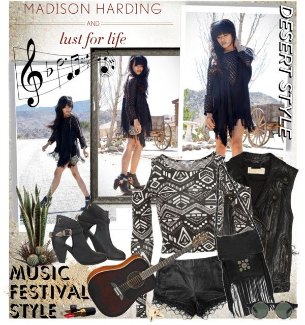 """""""Music Festival Style With Lust for Life x Madison Harding"""" by bratatouille ❤ liked on Polyvore"""