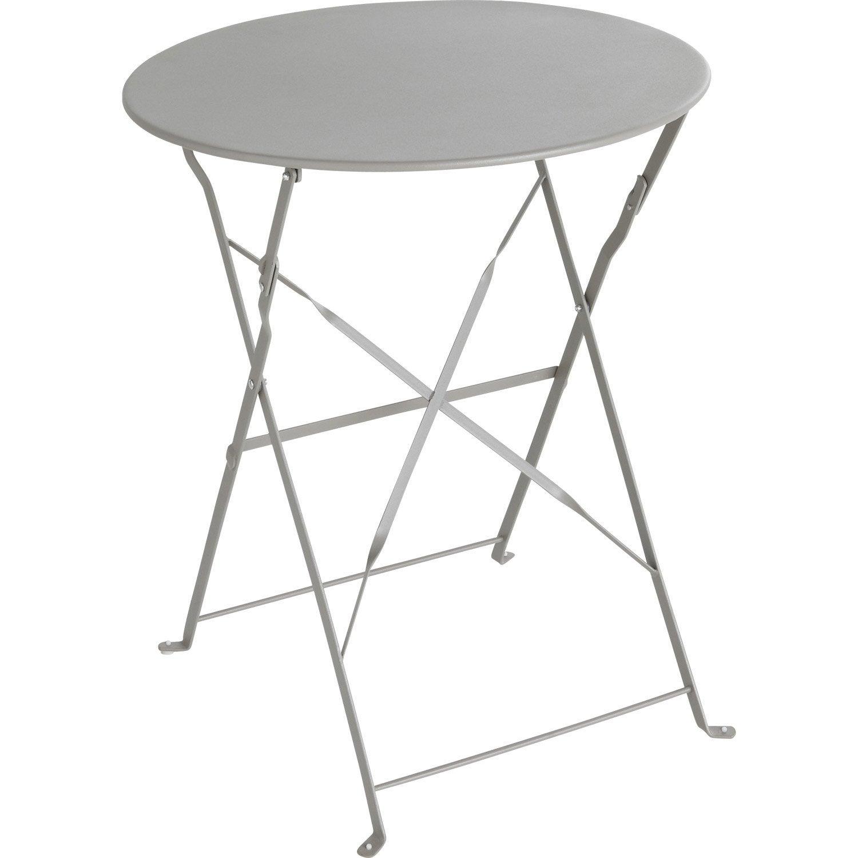 Table Repas 2 Personnes table de jardin de repas flore ronde gris 2 personnes