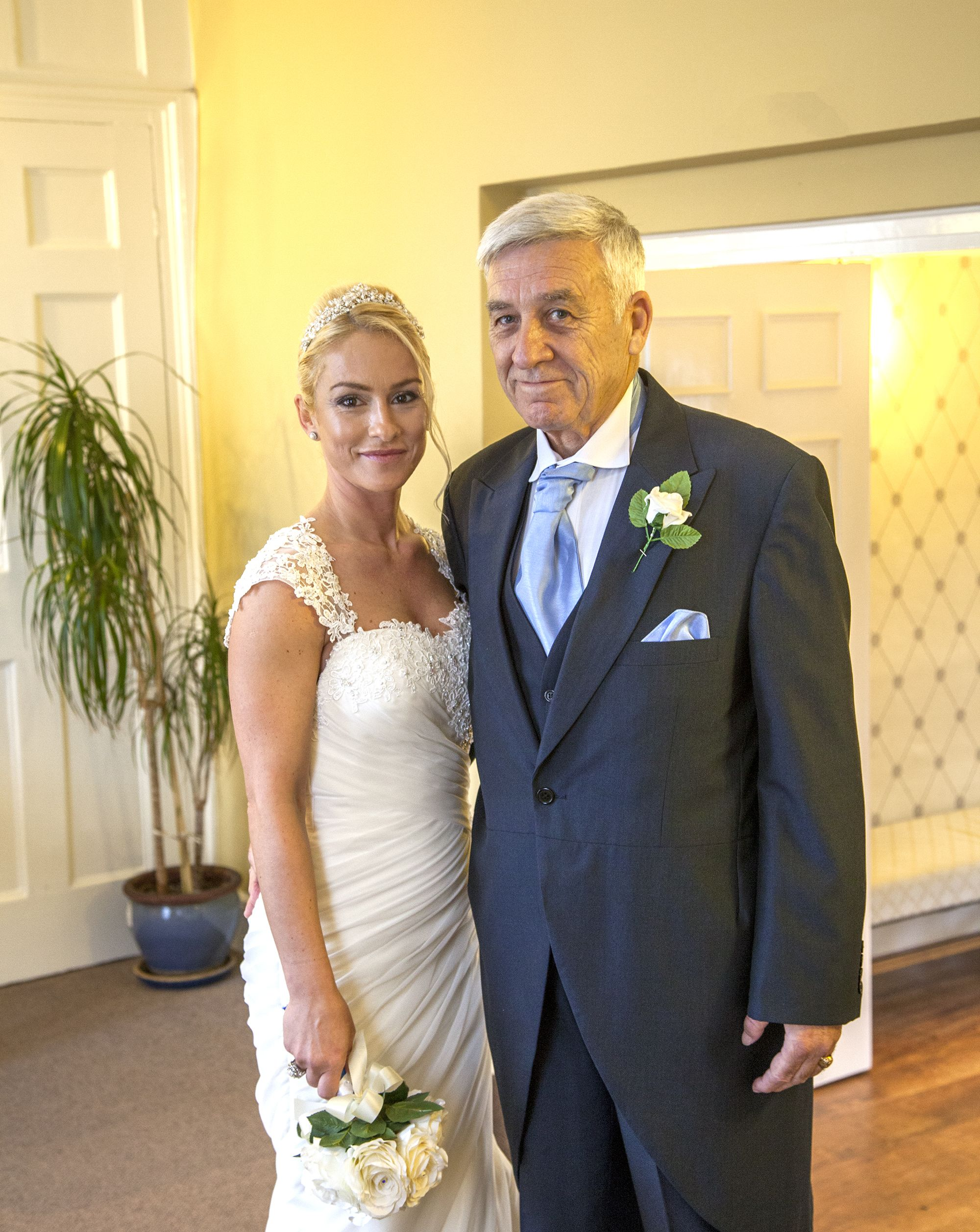 Bride And Proud Father Of The At Canterbury Registry Office Kent