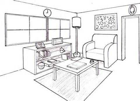 . drawing furniture 2 point perspective     Yahoo Image Search Results